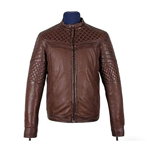 PARE Men's Jacket Genuine Leather Brown Stylish (Size : XS to 2XL)