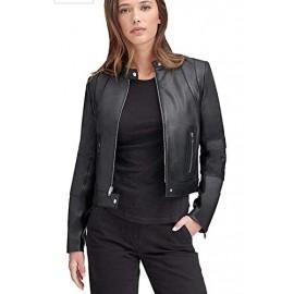 PARE Women's Jacket Genuine Leather Black Stylish(Size : XS to 2XL)